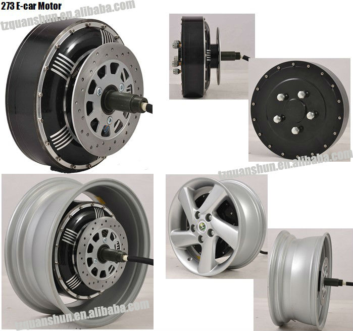5000W 273 45H V2 Electric Car Wheel Motor