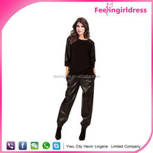 Wholesale High Quality Hot Girls Sexy Leather Leggings