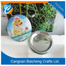 High quality badge clip safety pin/tin plate buttons badges