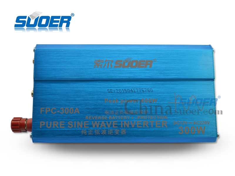 Suoer  12v dc to ac 220v inverters 300w pure sine wave inverter with USB