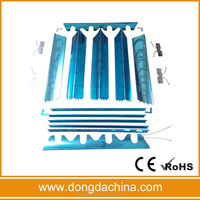 Aluminium reflector lamp cover CKD of T8 grille light fixture