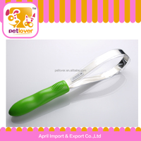 pet product rubber handle steel knife cleaning pet hair brush for dog petlover