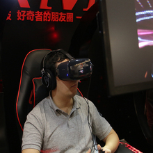 virtual reality game cockpit with shinecon glasses/heaset