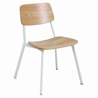 Plywood Dining chair with veneer seat