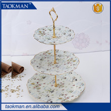 Ceramic cake plate party plate 3 tier plate Snowman collection Christmas Porcelain