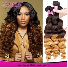 NEW!!! Ombre Hair Weaves Loose Wave Brazilian Virgin Hair