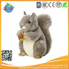 Lovely kids toy animal plush toy stuffed squirrel