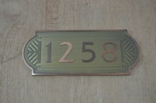 metal logo plate office door signs