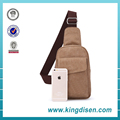 2017 Promotional fashion men canvas sling bag