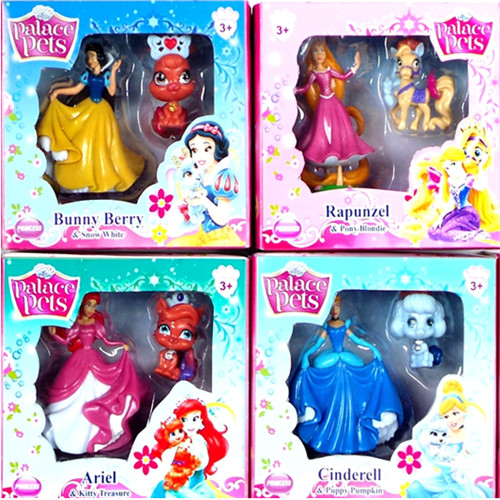 Princess Toy Figure LED Light Night Lamp Royal Family Doll Collection Girl Games