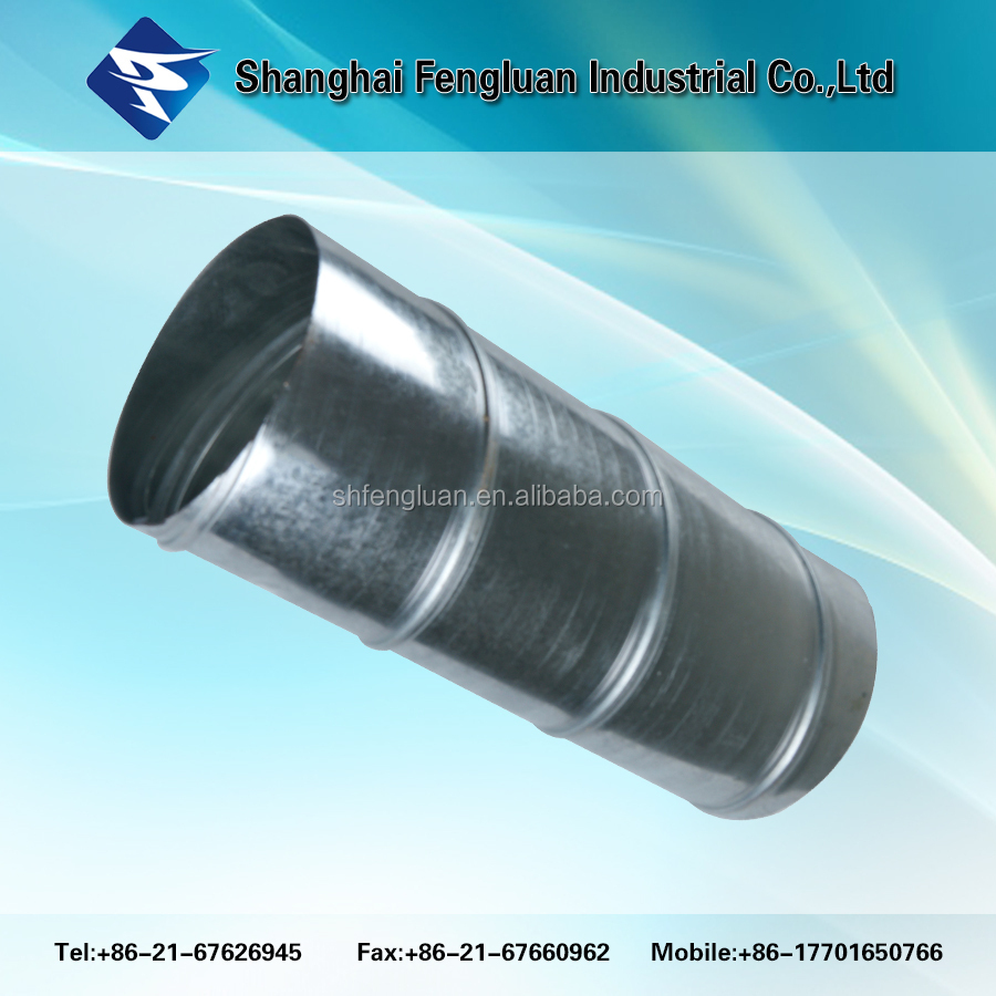 Galvanized steel spiral duct ductwork air vent