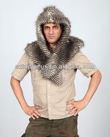 ANIMAL HOODED FAUX FUR EAGLE SHAWL WRAPS CAPPA