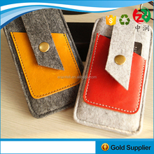 High Quality Custom Logo Earphone Organizer Bag Felt Leather Phone Case For Teenagers