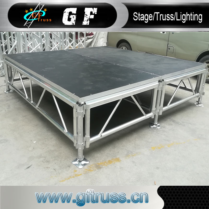 4ft by 8ft Truss Outdoor <strong>Stage</strong> Aluminum Performance <strong>Stages</strong>