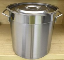 1.2mm Thickness 400L Stainless steel large commercial cooking pots 80*80cm boiler pot