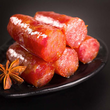 eutrophy vacuum packing chinese sausage Chinese tradition for Spring Festival smoked and cooked pork sausage