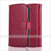 Luxury Leather Phone Case Folio Cover For Samsung Galaxy S4 i9500