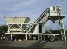 Small Mobile Concrete Batching Plant