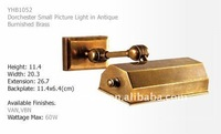 small picture lights in antique bumished brass