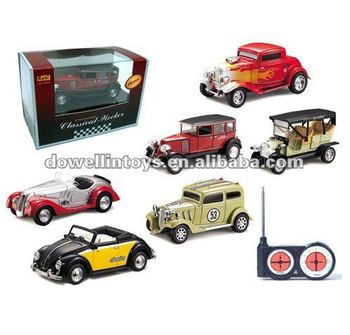 Hot Sales 1:48 Scale RC 5CH Mini Classic Cars Model Toys With Light/RC Classic Cars/RC Car