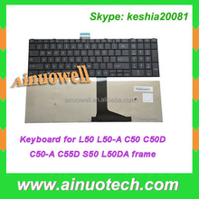 laptop backlit keyboard L50-A C50 C50D C50-A C55D L50 S50 L850 with frame Black US Laptop keyboard for toshiba l500 Keyboard