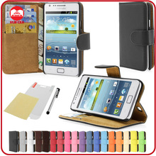 RF Manufacturer Folio Pouch Pocket Stand Wallet Leather Cell Phone Case for Samsung Galaxy S2 I9100 I9105