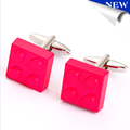 3d colorful printed cufflinks for mens shirts