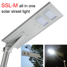Online 30W new design IP66 solar street light pole with lamp arm