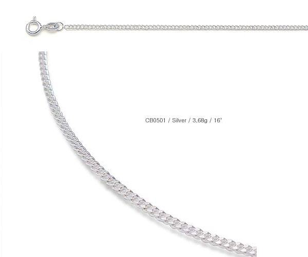 Silver Chain Made By Italian Machinery - Curb Chain