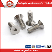 Stainless Steel/Carbon Steel Inner Hexagon Countersunk Head Machine Screws