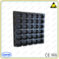 ESD Electronic Components Black Blister Tray