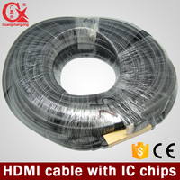 50m bulk hdmi cable with chip support 3d HDTV, 4k*2k hdmi