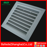 anodized / powder coated aluminum air inlet grille in HVAC system