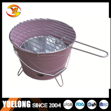 YL1604#Commercial charcoal bbq stoves, bucket charcoal bbq grill with nice grill