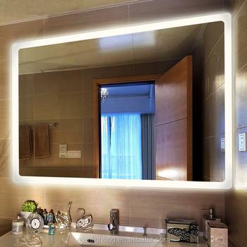 Hot Sale Hotel Illuminaed Bathroom Smart Led Lighted Vanity Mirror With Defogger - Buy Led ...