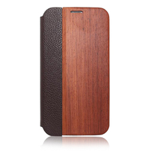 100% Handmade Blank Real Solid Wood Leather Case For Samsung S5