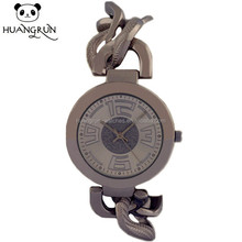 China facotory silver metal twisted strap wrist alloy watch