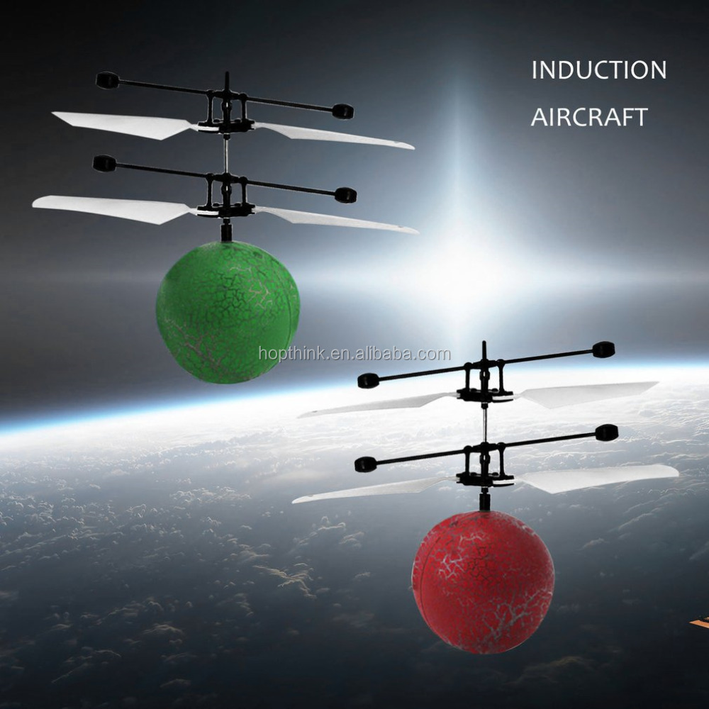 Mini magic Flying RC Ball Flashing Light Aircraft Helicopter Infrared Induction Rc Toy