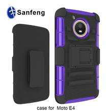 Attractive Appearance Tough Stand Clip Holster Shockproof Phone Case for US Moto E4