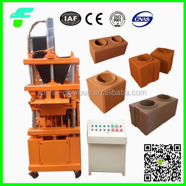 2015 Hydraulic Pressure High Quality Soil /Mud Interlocking Brick Making Machine SY1-10