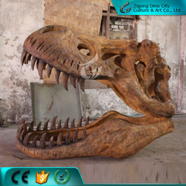 Life Size Artificial Dinosaur Skull for Sale