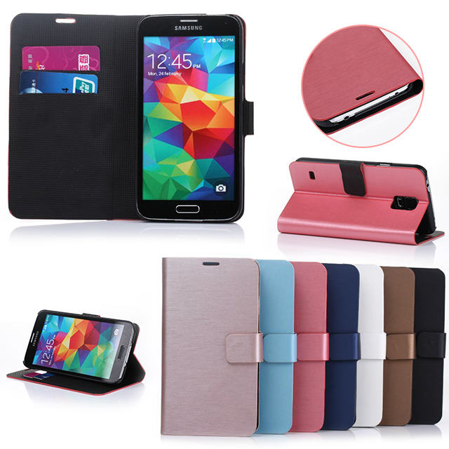 flip leather case for Samsung Galaxy S5 i9600 cellphone