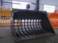Rock Screening Bucket (no teeth) fitted for Volvo/Kobelco/HItachi