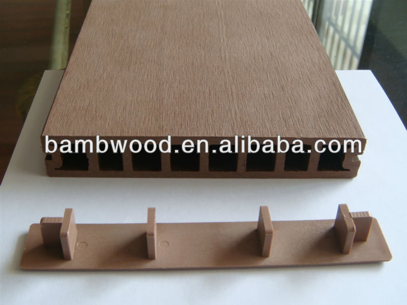 Look! redwood color outdoor wpc decking