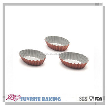 New style elliptical shape carbon steel non stick baking mould cake baking pan/bakeware tool egg tart mold muffin cups