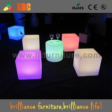 lighting cube/led light cube/plastic cube coffee table
