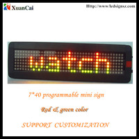 p7.62mm Rechargeable Software programmable moving message small Led display sign