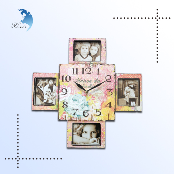 personalized wholesale decorative unique wooden clock