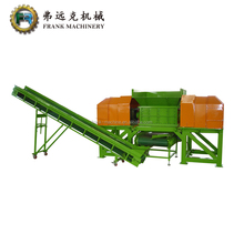 double shaft wood pallet with nail plastic crusher shredder grinder