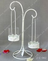 Tall white candle stand